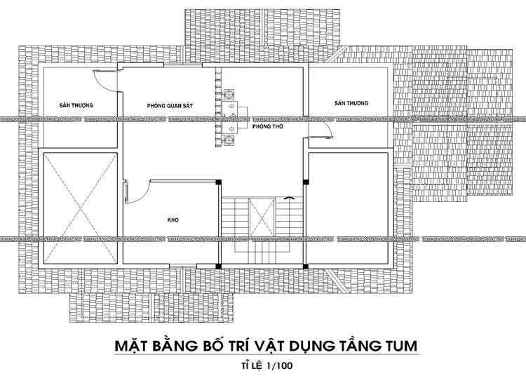 Mẫu thiết kế biệt thự 2 tầng 1 tum đẹp tại Q.12 diện tích 150m2 Tang-tum