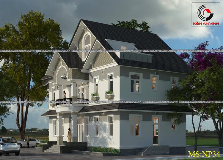 Mẫu thiết kế biệt thự 2 tầng 1 tum đẹp tại Q.12 diện tích 150m2 Thiet-ke-biet-thu-dep-1-tang-2
