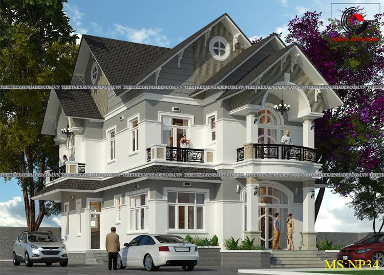 Mẫu thiết kế biệt thự 2 tầng 1 tum đẹp tại Q.12 diện tích 150m2 Thiet-ke-biet-thu-dep-1-tang-3