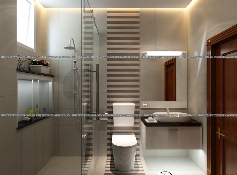 Mẫu thiết kế biệt thự 2 tầng đẹp hiện đại diện tích 120m2 WC-1