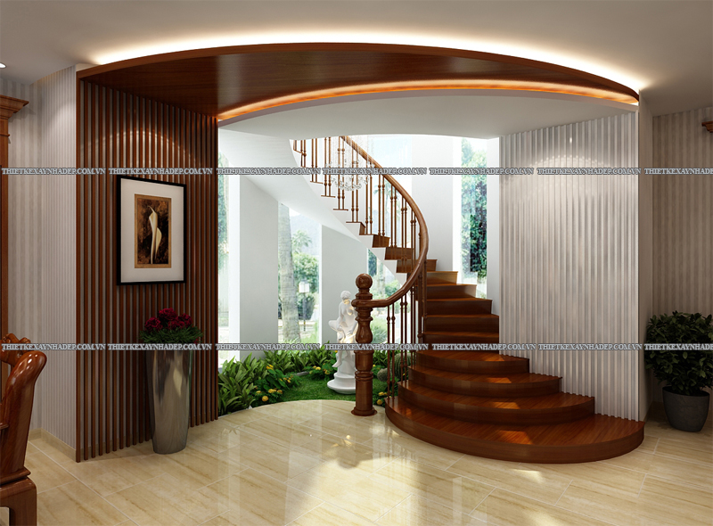 Mẫu thiết kế biệt thự 2 tầng đẹp hiện đại diện tích 120m2 Goc-cau-thang