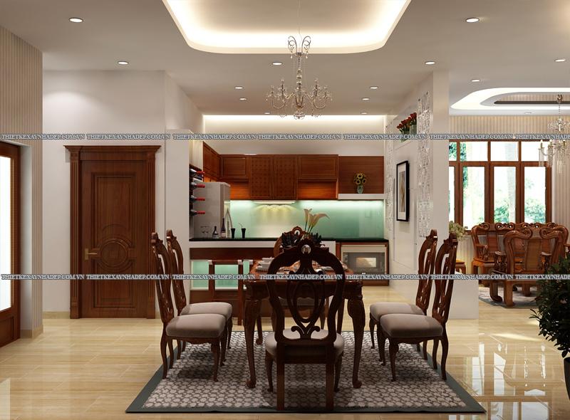 Mẫu thiết kế biệt thự 2 tầng đẹp hiện đại diện tích 120m2 Phong-bep-2