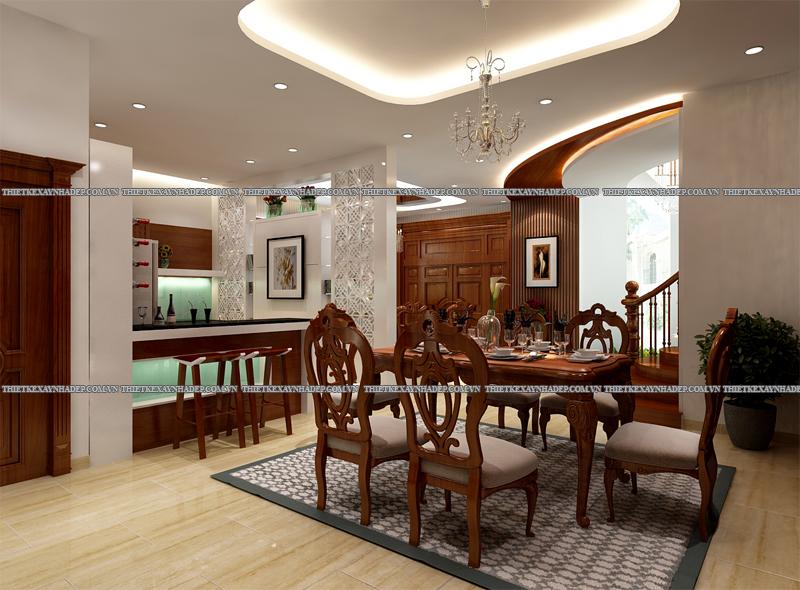 Mẫu thiết kế biệt thự 2 tầng đẹp hiện đại diện tích 120m2 Phong-bep-4