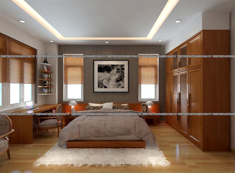 Mẫu thiết kế biệt thự 2 tầng đẹp hiện đại diện tích 120m2 Phong-ngu-master-1