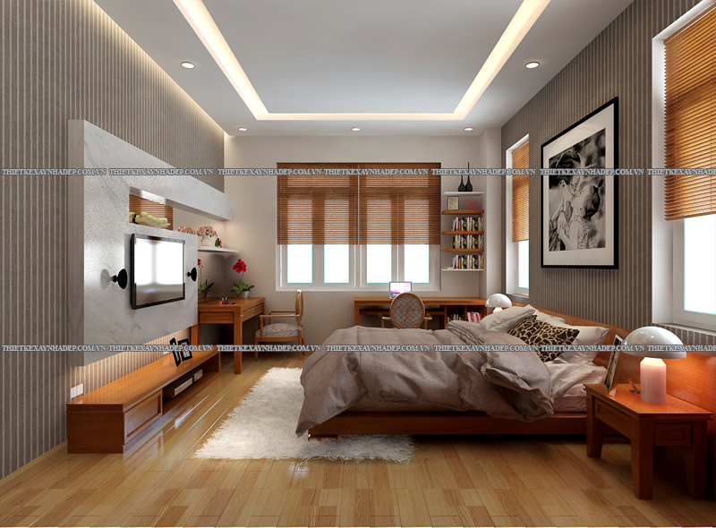 Mẫu thiết kế biệt thự 2 tầng đẹp hiện đại diện tích 120m2 Phong-ngu-master-2