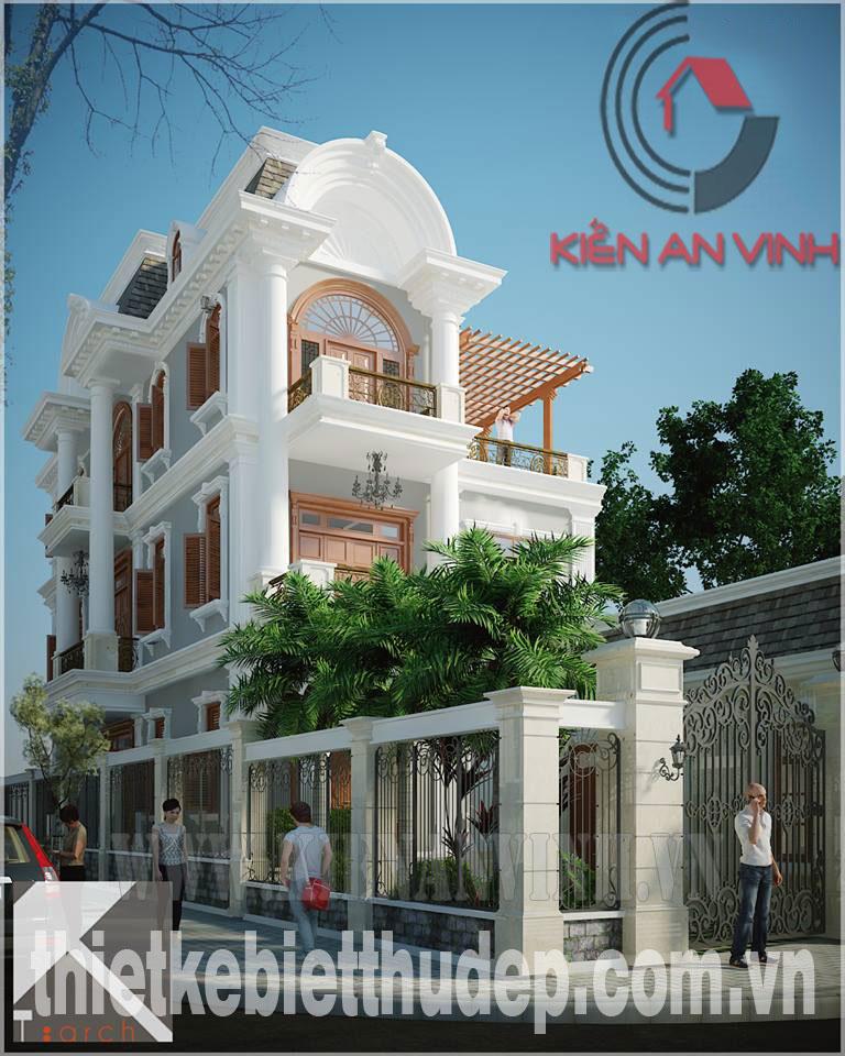 Mẫu thiết kế biệt thự 2 tầng dt 250m2 hiện đại đẹp tại Quảng Ngãi Biet-thu-quang-ngai-mat-tien