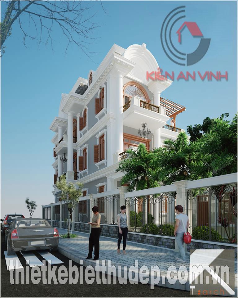 Mẫu thiết kế biệt thự 2 tầng dt 250m2 hiện đại đẹp tại Quảng Ngãi Biet-thu-quang-ngai-toan-canh