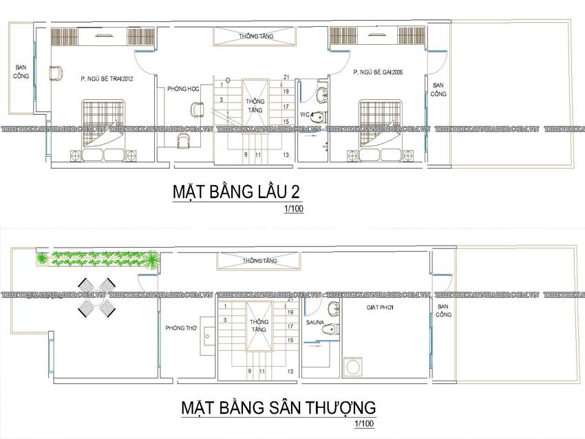 Mẫu thiết kế nhà ống 2 tầng đẹp diện tích 5x25m tại Nhà Bè,Q.7 Tang-2-tang-san-thuong