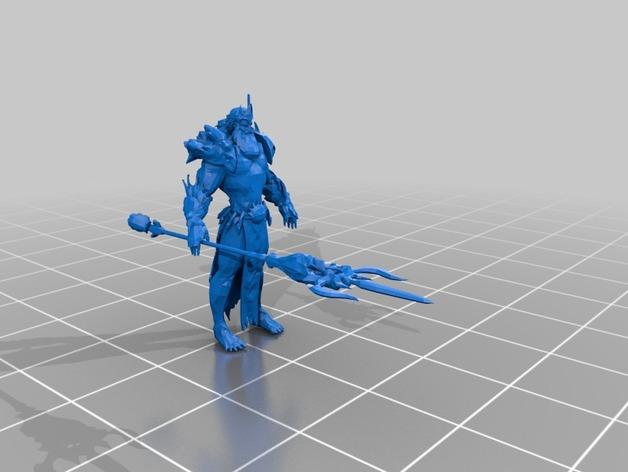"APORTE MODELOS 3D DE EL JUEGO ""SMITE""  Poseidon_preview_featured"