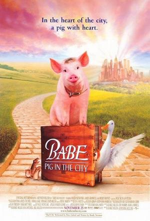 Tuyển phim Heo! hay hấp dẫn dành cho teen Babe-pig-in-the-city-1998-poster