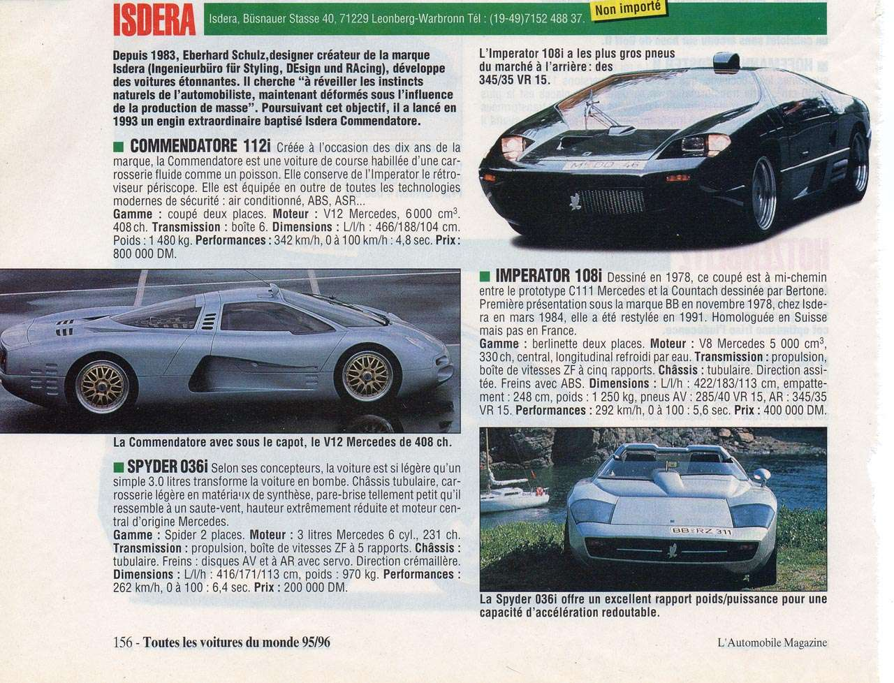 Les Isdera  Automag95-96p156_isdera