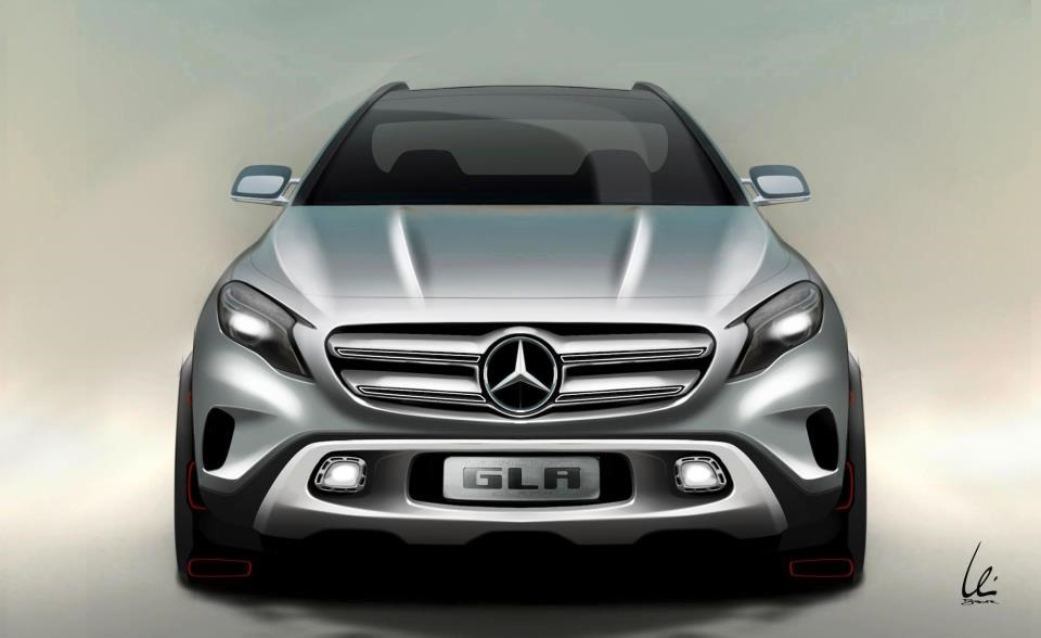 Le mini SUV Par Mercedes Benz, le GLA Concept (X156) X156-01