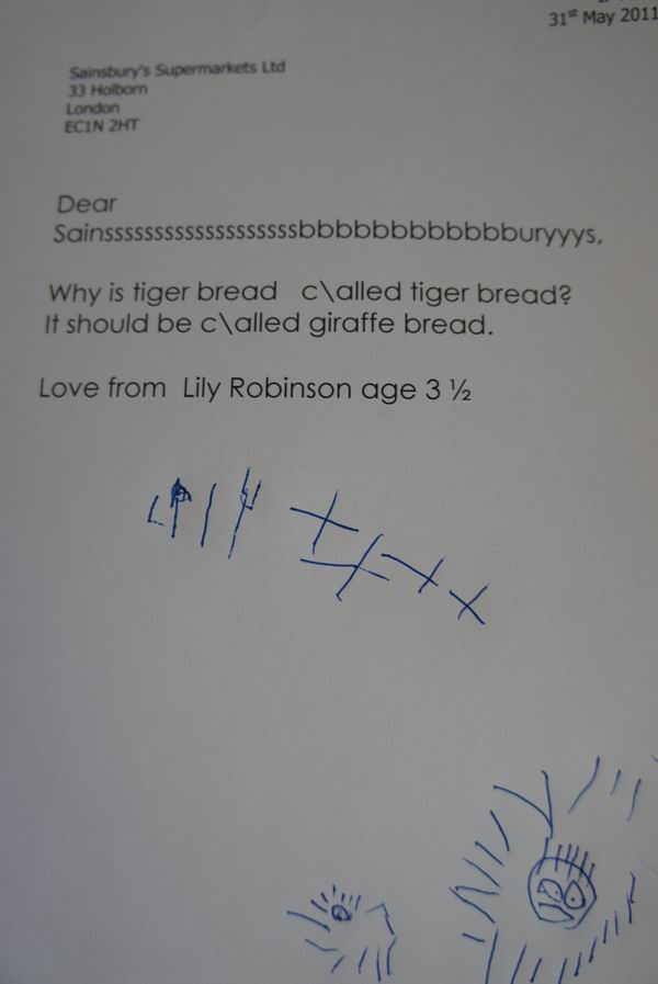 I hate Sainsbury's but....... Letter