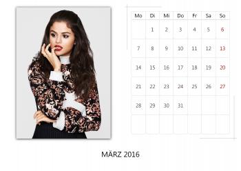 "Selena Gomez ""Selfmade Calendar 2016"" ( 12x ) 62b490455014912"