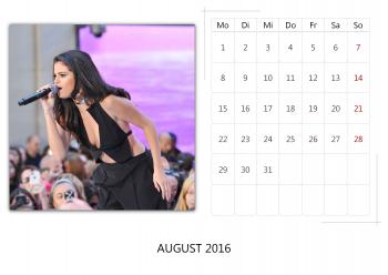 """Selena Gomez """"Selfmade Calendar 2016"""" ( 12x ) Ca5fb5455014941"""