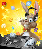 Happy Easter Easter-bunny-dj-cartoon-headphones-record-decks-chocolate-eggs-background-49820215