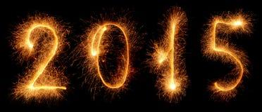 صور تهنئة بالعام الجديد 2015 Sparkler-new-year-made-sparklers-isolated-black-35834668