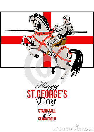 Happy St George's Day!!  Stand-tall-stand-proud-happy-st-george-day-retro-poster-37850100