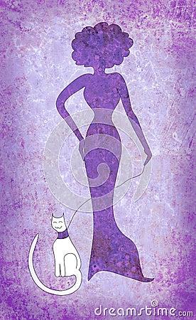 VIOLET - Page 4 Violet-woman-white-cat-18413788