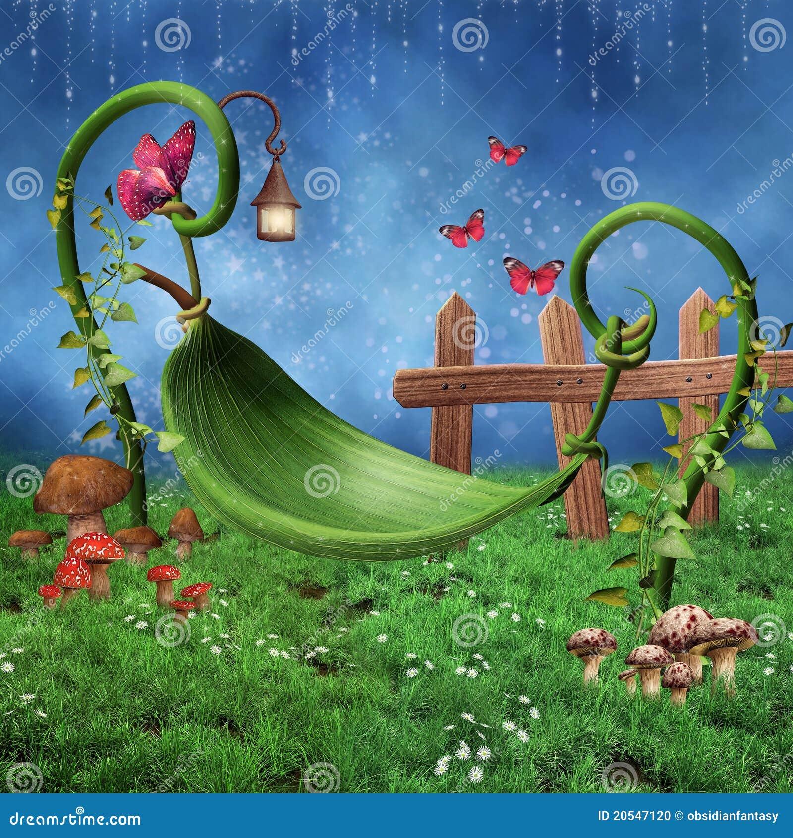 Un mundo de fantasia Hamaca-de-la-hoja-de-la-fantas%C3%ADa-20547120