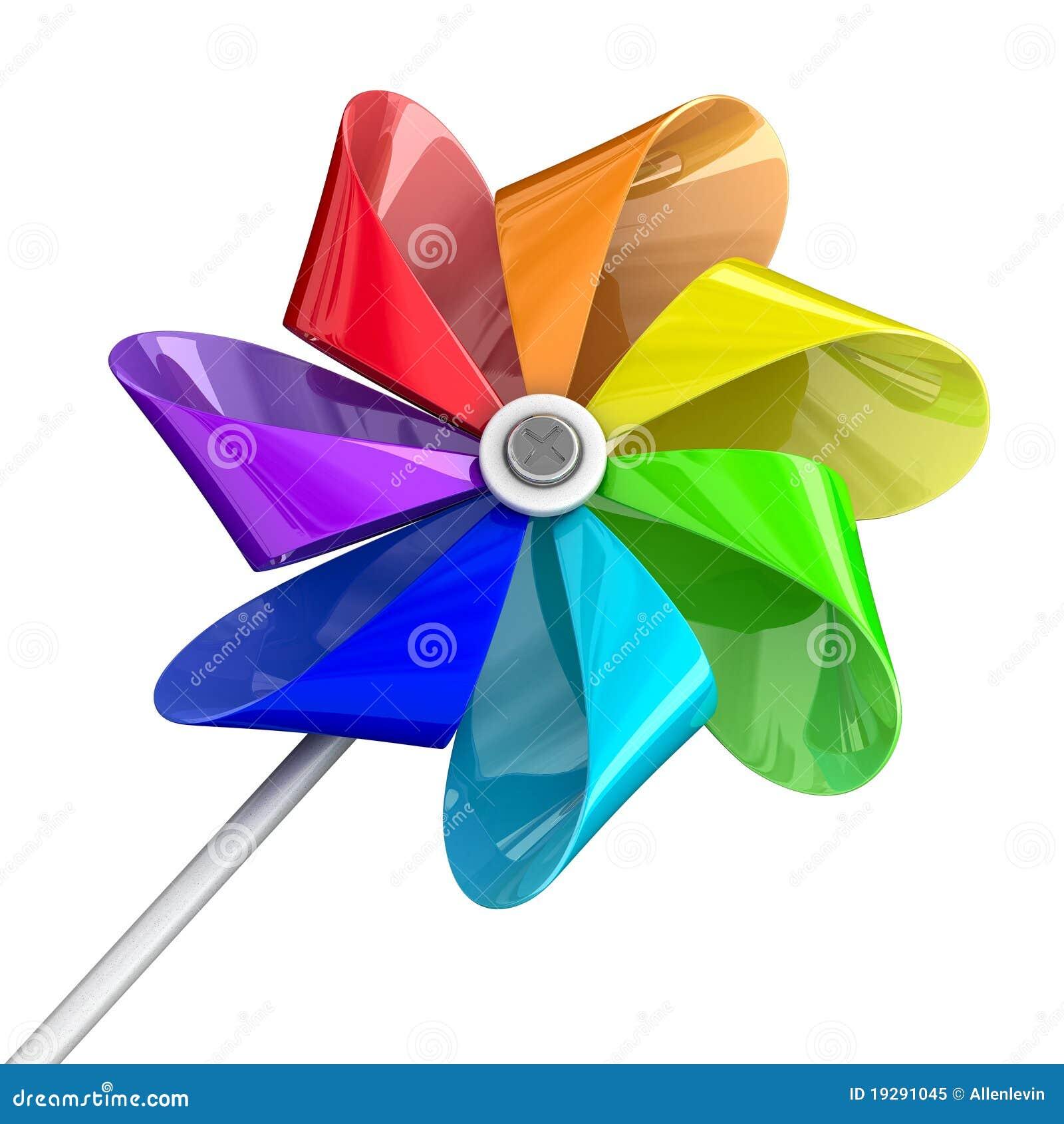 tout est multicolore - Page 3 Jouet-multicolore-de-pinwheel-19291045