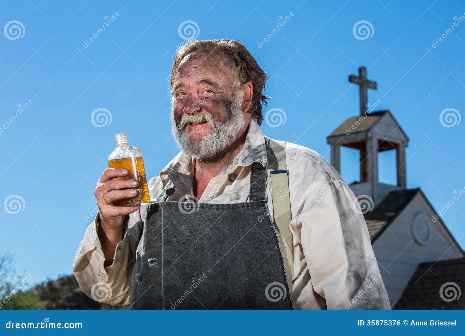 Hot or Not - Page 11 Old-west-drunkard-drinks-bottle-alchohol-35875376