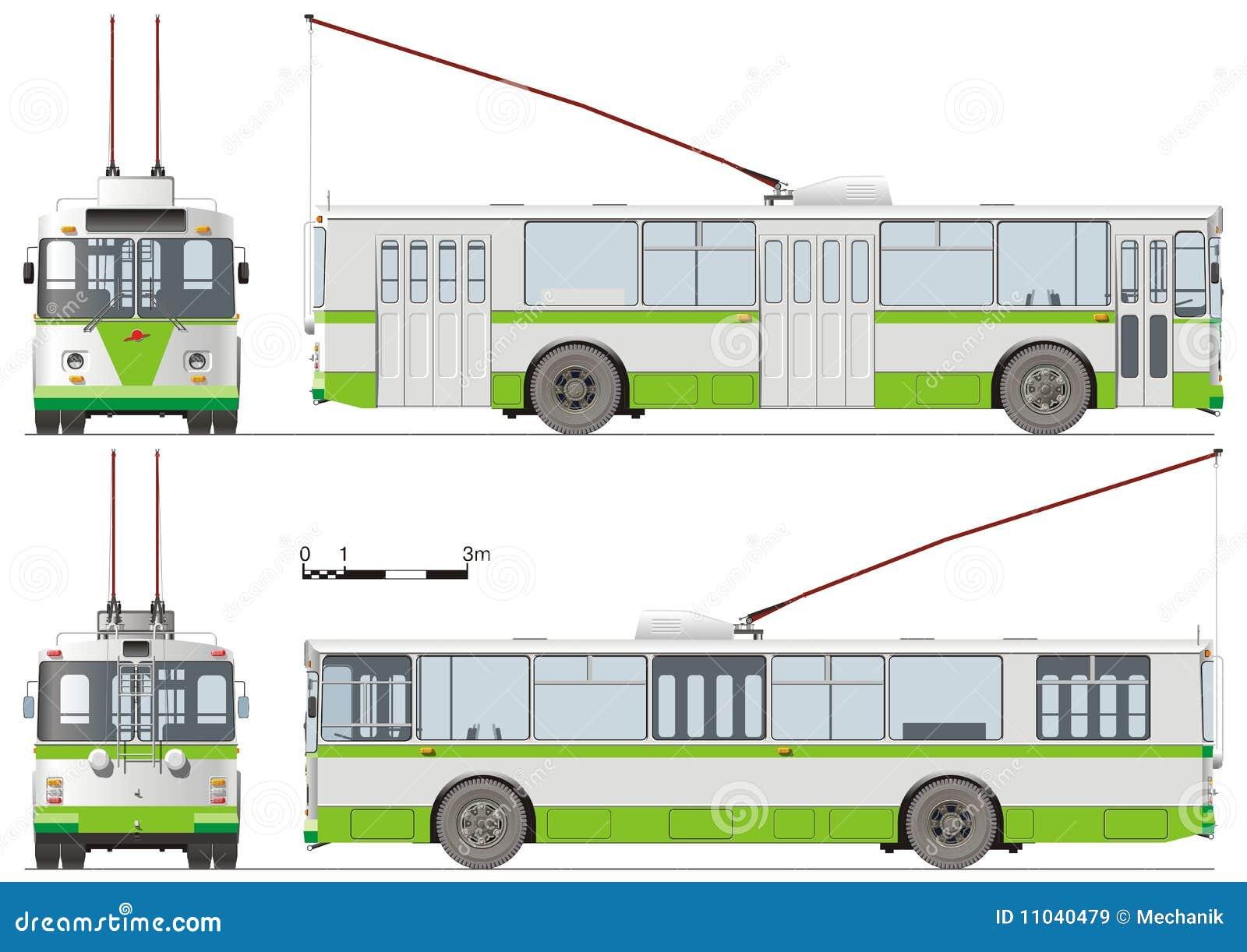 Au service de Dieu Urban-trolleybus-isolated-11040479