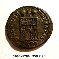 AE3 de Constantino II. PROVIDENTIAE CAESS. Trier 028e6a8314af1d4173219cf0a452abcfo
