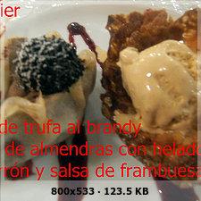 Crepes trufa al brandy tulipa de almendra helado turron salsa frambuesas 3f25bee139c27aa77691c081cc7119b6o