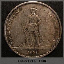 Suiza - 5 Francos 1859 Zürich. Monedas Festival de tiro.  41b57de0bf254cc0e9a9082dae991699o