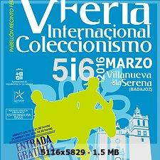 V Feria Internacional de coleccionismo Villanueva de la Serena. 5bb07919f4cb8c8ca56b3850e1f9b055o