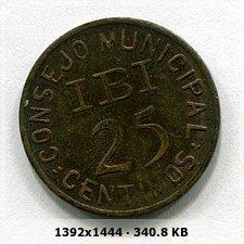 25 Céntimos 1937. Guera Civil. Consejo Municipal Ibi 87fabc5bd2706104d329ac42d77a2661o