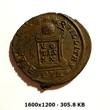 AE3 de Constantino I. BEATA TRANQVILLITAS. Trier 8a65cf6d060e63226a45720880d5dd9ao