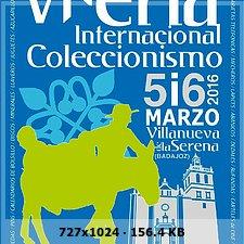 V Feria Internacional de coleccionismo Villanueva de la Serena. 8bbc8a16023ec6fa8ed920c3d50bb07bo