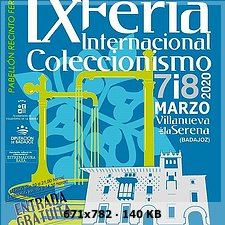 IX FERIA INTERNACIONAL DE COLECCIONISMO VILLANUEVA DE LA SERENA 96a54ef579c49dfb7219d1f1f8fceddao