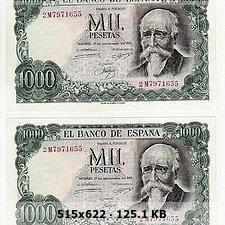 Dos billetes de 5.000 Pesetas con misma numeración. D888e4a251628f3dfe0988cd8d6431bao