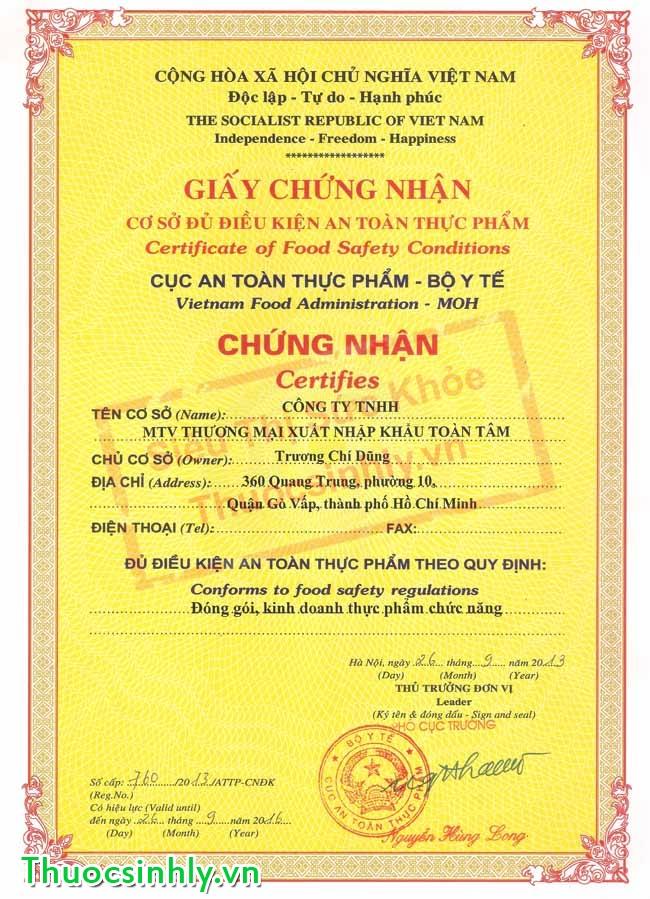 Topics tagged under testosteron on Diễn đàn Tuổi trẻ Việt Nam | 2TVN Forum Giay-chung-nhan-an-toan-thuc-pham-sieuthi