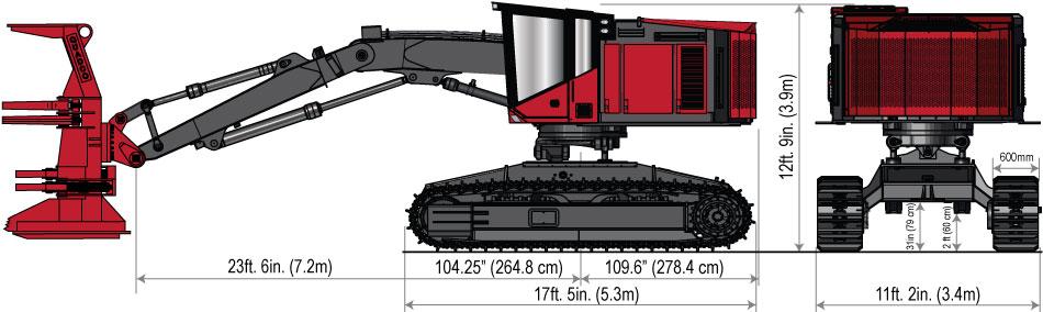 Timber Pro macchine forestali TL775D-specs