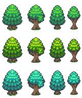 Bibliothèque des ressources VX Ace Tilesets Trees_1x