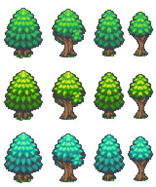 Bibliothèque des ressources VX Ace Tilesets Trees_2x