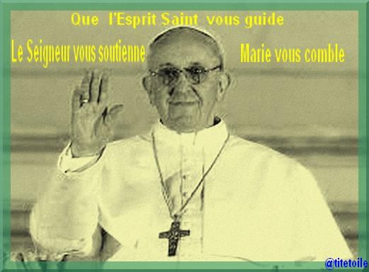 Intronisation du Saint Père en la Saint Joseph Pape-francois