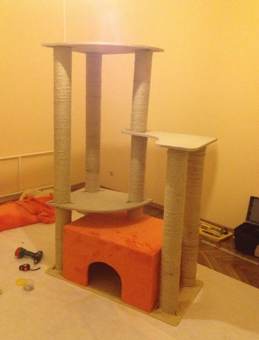 Самодельный домик для кота 2e0e627394ba7ca9ba8b5428a31e49cd