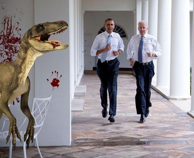 Фотожабы на пробежку Обамы и Байдена по Белому Дому 2c1670e78d2fb49a9de60e2b1d61cf2d