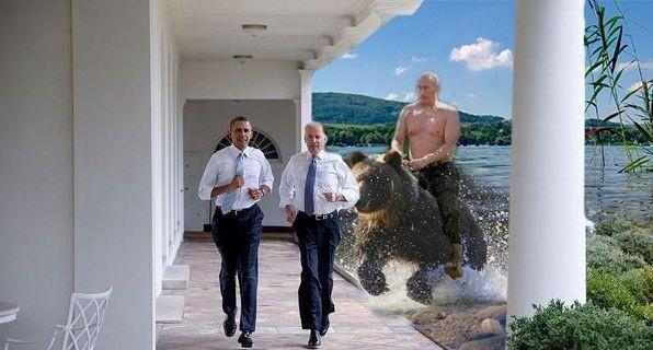 Фотожабы на пробежку Обамы и Байдена по Белому Дому 3279962