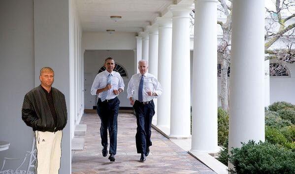 Фотожабы на пробежку Обамы и Байдена по Белому Дому 3280151