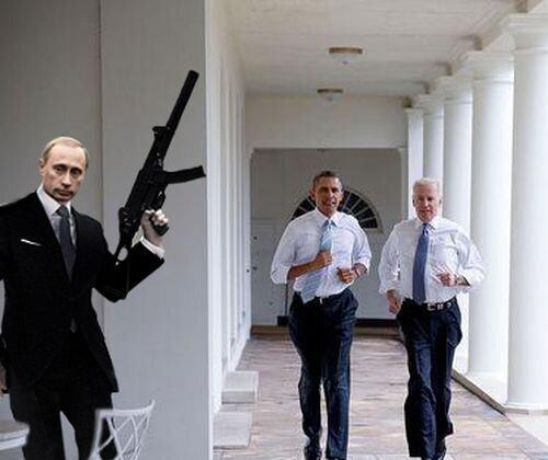 Фотожабы на пробежку Обамы и Байдена по Белому Дому 3280276