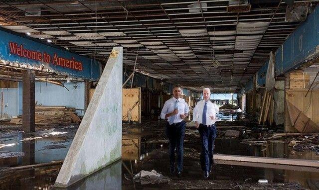 Фотожабы на пробежку Обамы и Байдена по Белому Дому 3281212