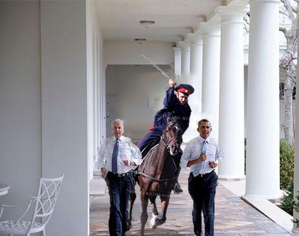 Фотожабы на пробежку Обамы и Байдена по Белому Дому 3282454