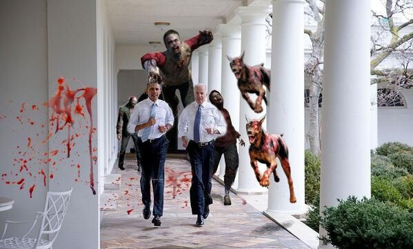 Фотожабы на пробежку Обамы и Байдена по Белому Дому 3282860