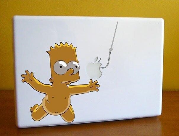 Наклейки на macbook 045